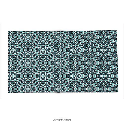 Custom printed Throw Blanket with Arabian Decor Collection Arabesque Persian Geometric Complex Lines and Floral Patterns in Retro Style Culture Art Print Blue Super soft and Cozy Fleece Blanket by vipsung