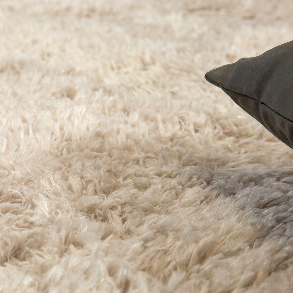 Paco Home Home Home Hochflor Teppich Kuschelig Modern Shaggy Flokati Stil Gemütlich Uni In Beige, Grösse 200x290 cm d3f5e2
