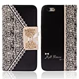 Mchoice Flip Wallet Leather Case Cover for iPhone