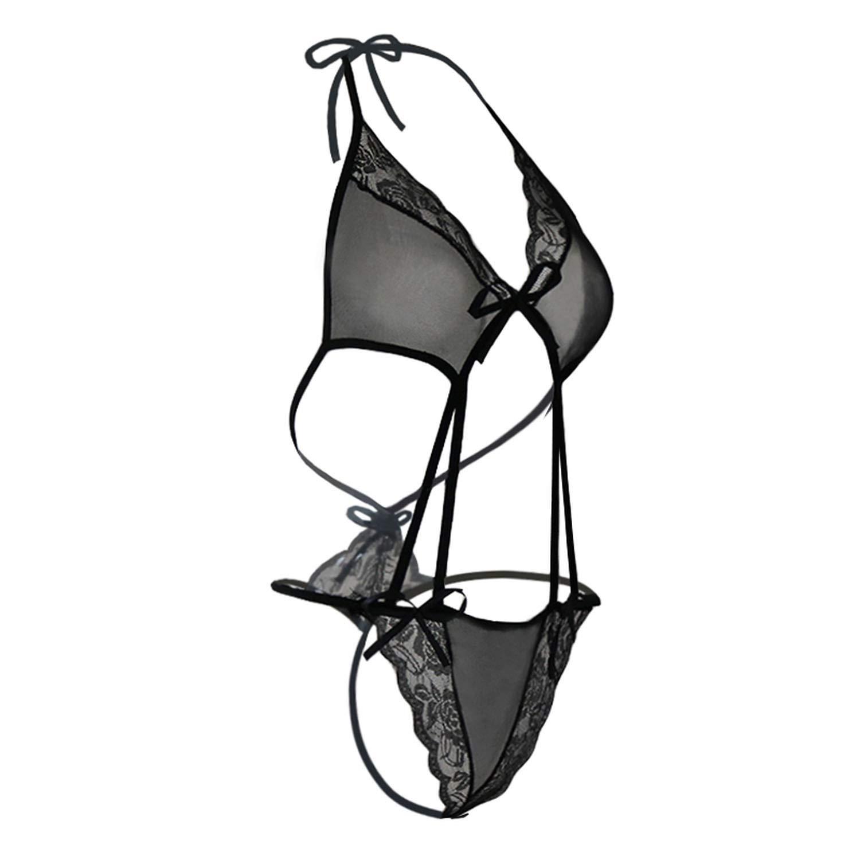 9883b47af3c6 Amazon.com: 2018 Transparent Babydoll Sexy Teddy Lingerie fantasias Women's  Erotic Underwear Black Lace Intimate Porn Sexy Costumes, Black, ...
