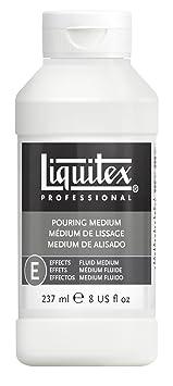 Liquitex Professional 5408 Gieß- und Pouring- Medium, wasserfest, nicht-vergilbend, flexibel, erhöht den Farbfluss, 237 ml Fl