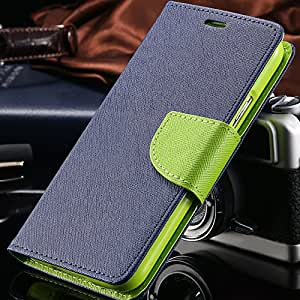 Luxury Leather Flip Stand Card Slot Wallet Case For S3 Korean Style Double Button Cover For Samsung Galaxy S3 III i9300 RCD03751 --- Color:sky blue