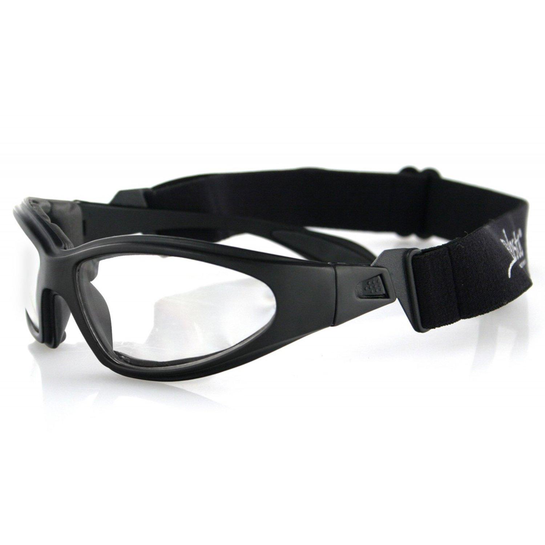 Bobster GXR Sport Sunglasses,Black Frame/Clear Lens,one size by Bobster (Image #1)