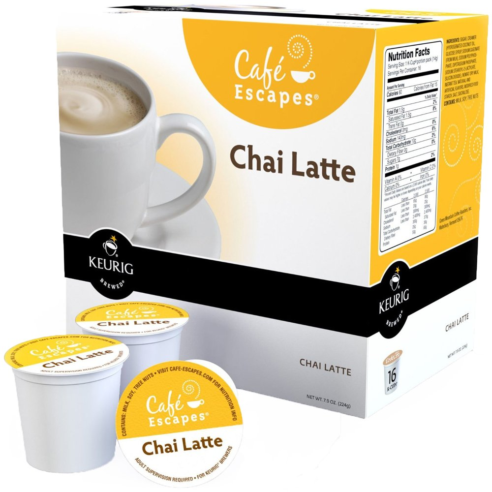 Green Mountain Café Escapes Chai Latte K-Cup