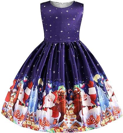 Vectry Navidad Vestido De Niñas Princesa Vestido Niño Niñas Princesa De Dibujos Animados Vestido De Desfile Vestido De Boda De Fiesta De Navidad Outfits Vestido De Tutú Flores Cumpleaños