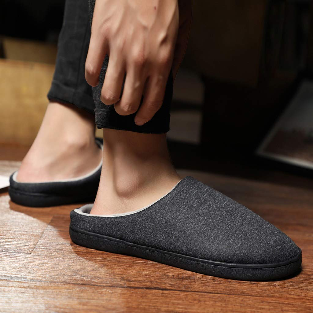 Men's and Women's Comfort Quilted Memory Foam Fleece Lining House Slippers Slip On Clog House Shoes,SUNSEE 2019 by MEN SHOES BIG PROMOTION-SUNSEE (Image #5)