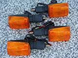 i5 Set of Four FULL-SIZE SHORT-STEM DUAL-SPORT TURN SIGNALS for Honda Kawasaki Suzuki Yamaha