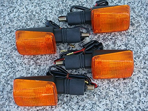 Short Turn Signal Mounts - i5 Set of Four FULL-SIZE SHORT-STEM DUAL-SPORT TURN SIGNALS for Honda Kawasaki Suzuki Yamaha