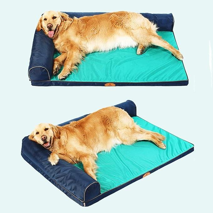 Cama para perros | Cama para mascotas ortopédica con sofá estilo sofá de Oxford para perros y gatos, resistente a la captura de orina y al cabello ...