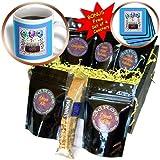 3dRose Beverly Turner Birthday Design, Happy Birthday 80th Chocolate Cake, Coffee Gift Baskets