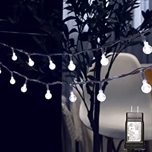 MYGOTO Globe String Lights for Bedroom, 39ft 100 LED 8 Modes Plug in Decorative Lights, Waterproof Fairy String Lights for Patio, Indoor, Outdoor, Christmas, Wedding, Party, Connectable, Cool White