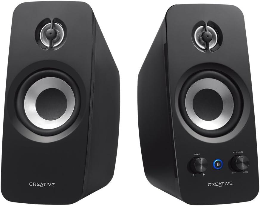 Creative T15 - Sistema de Altavoces 2.0 Wireless (Bluetooth 2.1 + EDR,Configuración del Sistema Sistema 2.0), Negro