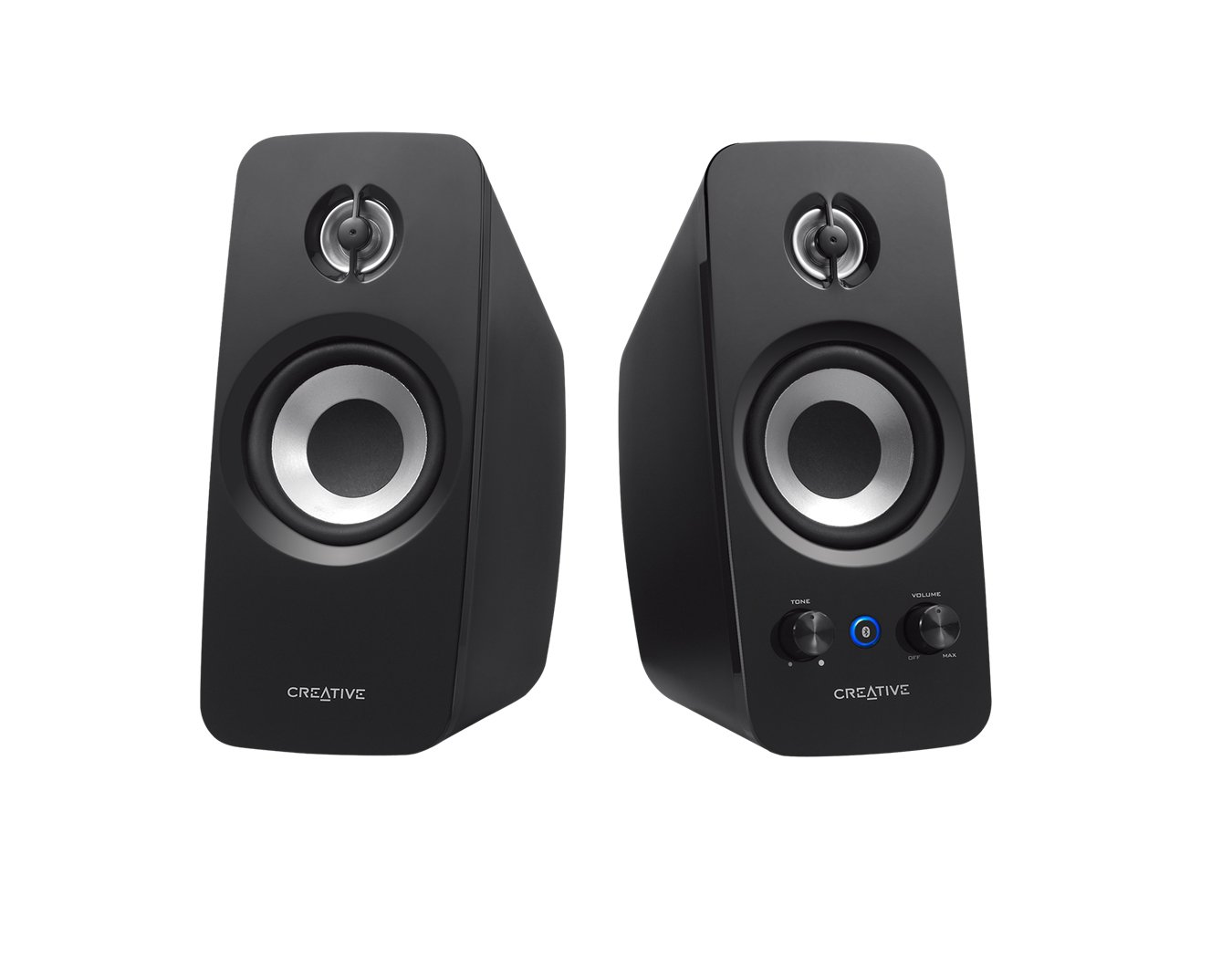Creative T15 - Sistema de Altavoces 2.0 Wireless (Bluetooth 2.1 + EDR,Configuración del Sistema Sistema 2.0), Negro