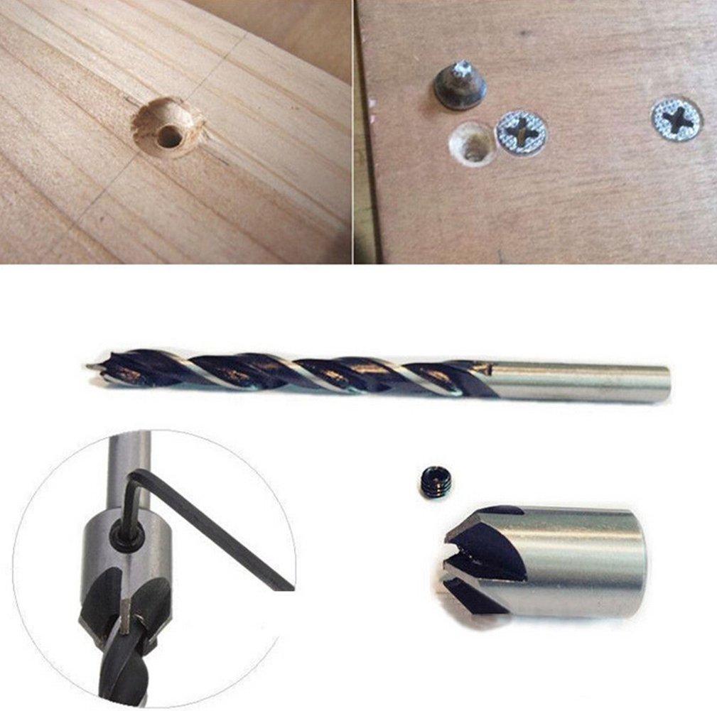 nero 99PCS HSS4241/rotonda Shank Countersink drill bit titanio rivestito Twist 1.5/ /10/mm punte Tool set