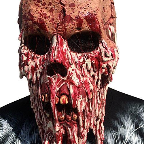 KaiCran Scary Halloween Mask Bloody Zombie Mask Melting