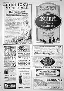 Jabón De Afeitar 1916 De Gibbs De Los Cigarrillos De La Espineta De La Leche De Horlick Del Anuncio Smith