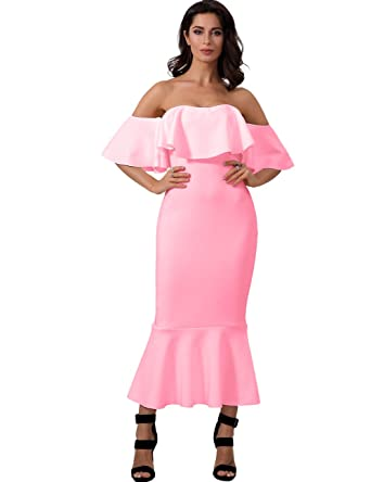 Adyce Verband Kleid Rosa Luxus Hochzeit Gast Anziehen Elegante