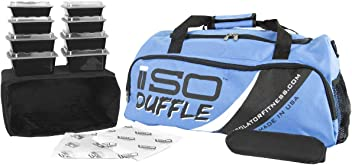 Isolator Fitness 6 Meal ISODUFFLE Gym Bag Meal Prep Management Insulated  Duffle Lunch Bag with 8 8465b6354f