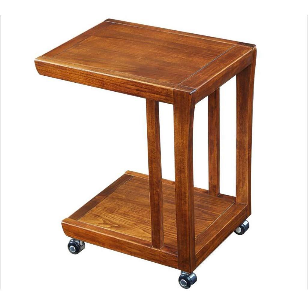 XIAOLVSHANGHANG CJ Tavolino da Salotto con rotelle a Doppio Strato, tavolino Multifunzione in Legno Tavolino da Salotto Tavolino Tavolino da Dessert 500 * 380 * 600mm