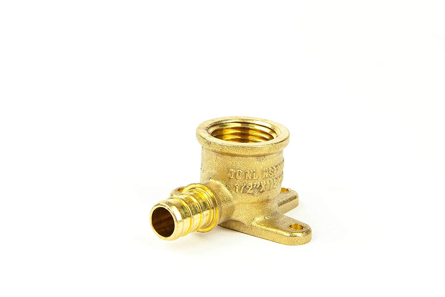 1/2'' PEX Female Threaded Drop Ear Elbow, Brass Crimp Fitting - Pack of 25 by CMI Inc.