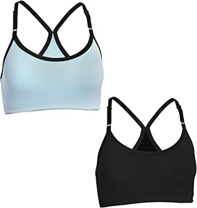 Strap Sports Bra, Racerback Bra Details about  /Fruit of the Loom 2 Pack Sports Bras For Women