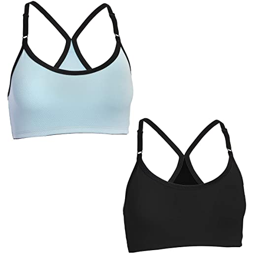 d4630aaa67 Image Unavailable. Image not available for. Color  Fruit of the Loom (2 Pack)  Sports Bras For Women ...