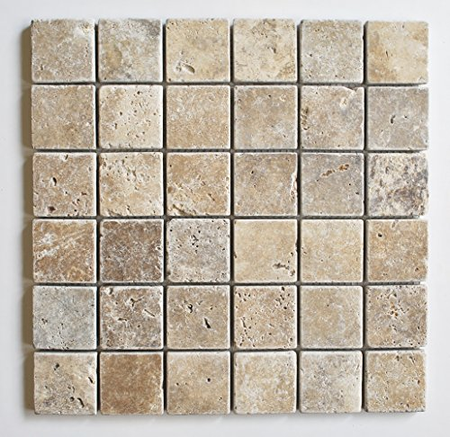 2x2-walnut-tumbled-aged-travertine-mosaic-tile-wall-and-floor