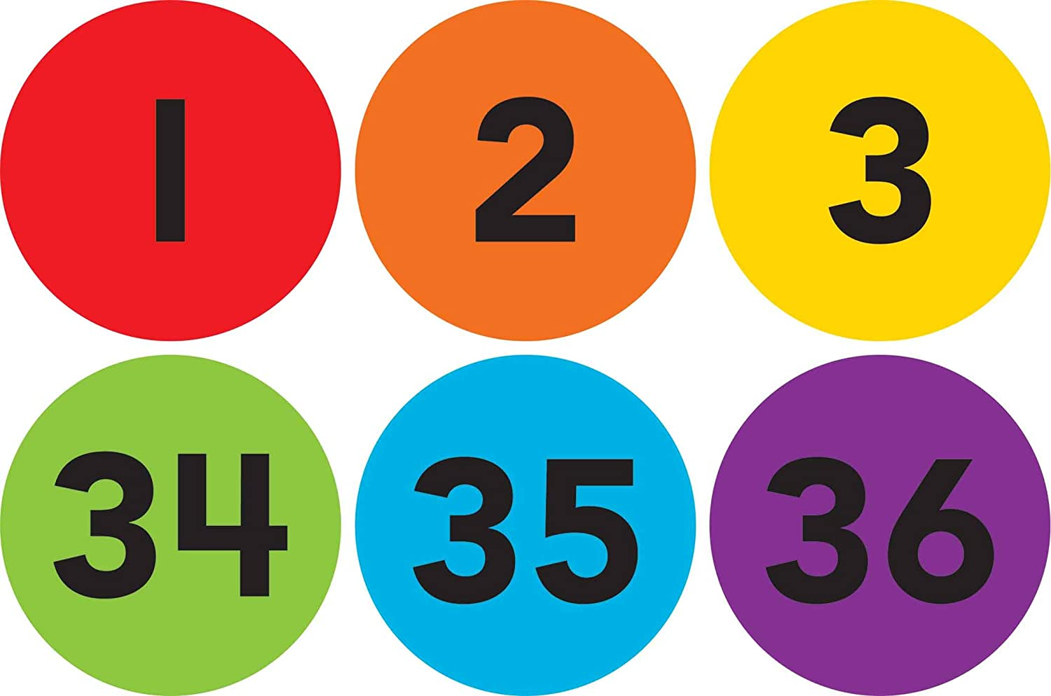 4-inch Numbers 1-36 Spot On Carpet Markers by Teacher Created Resources