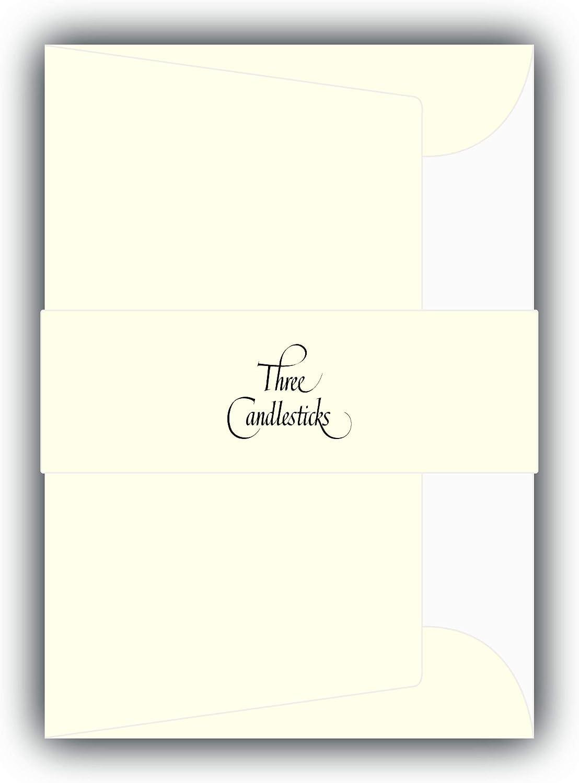 Three Candlesticks 100080009 20 enveloppes doubl/ées en tissu taille C6