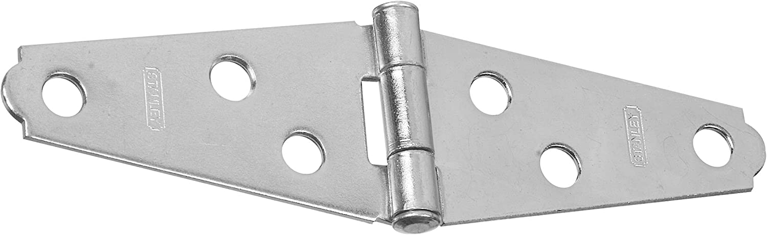 """2 Light Strap Hinges Zinc Plated 2/"""" ~ New"""