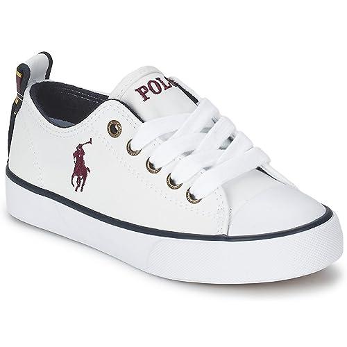 Polo Ralph Lauren - Zapatillas de Piel para niña Blanco Blanco ...