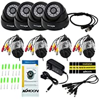KKmoon 8 Channel NVR HD 960H / D1 Video Security System with 8-Piece 800TVL Bullet Cameras, 50ft IR LED Night Vision, IR-CUT Night View CCTV IP Cameras, Smartphone View Support, Plug it and Play it