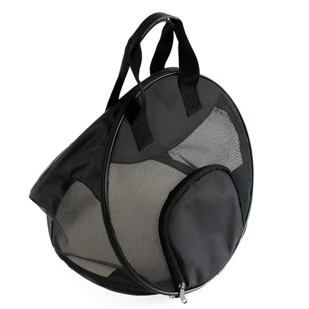 Black Pet Travel Bag Pet Carrier Cat Bag Small Dog Bag Portable Collapsible Pet Outgoing Package Large Space Lightweight Pet Handbag (color   Black)