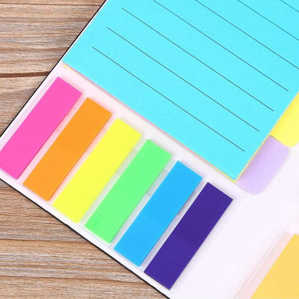 Sticky Notes Set colorati divisori autoadesive Note Pad Bundle Dare priorit/à con codifica a colori sul post note per studenti Office Home Usa 1PC