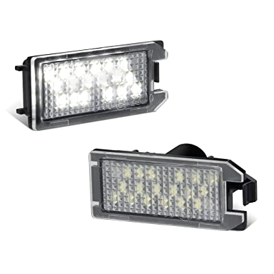 RUXIFEY LED License Plate Light Replacement Compatible with FIAT 500 2013-2020, Maserati Levant, 6000K White, Pack of 2: Automotive [5Bkhe0115329]
