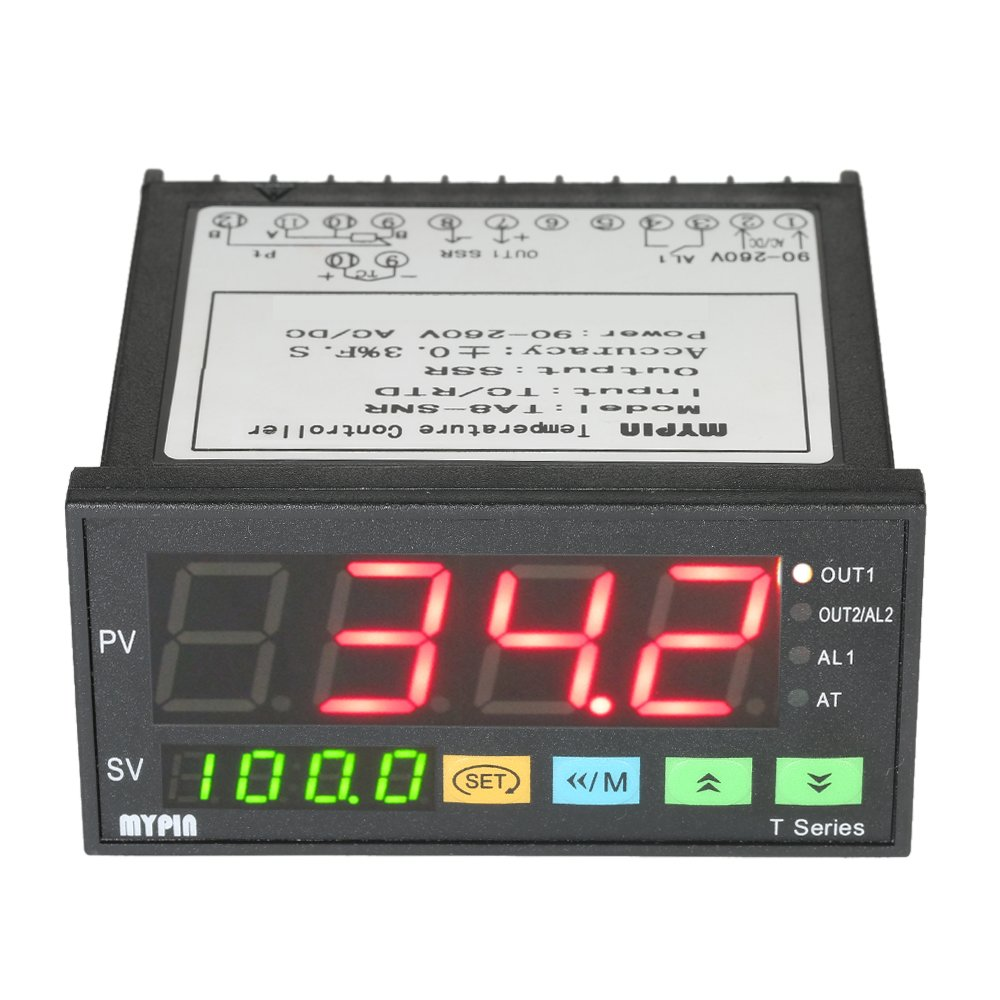 Kkmoon Mypin Temperature Controller Multi Functional Sv1000 Wiring Diagram Intelligent Dual 4 Digital Led Display Thermostat Pid Heating Cooling Control Tc Rtd
