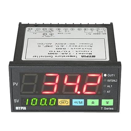 KKmoon 96mmX48mmX80mm 90-260V Temperatura Controlador Inteligente Dual 4 Digital Pantalla LED ℃ / ℉