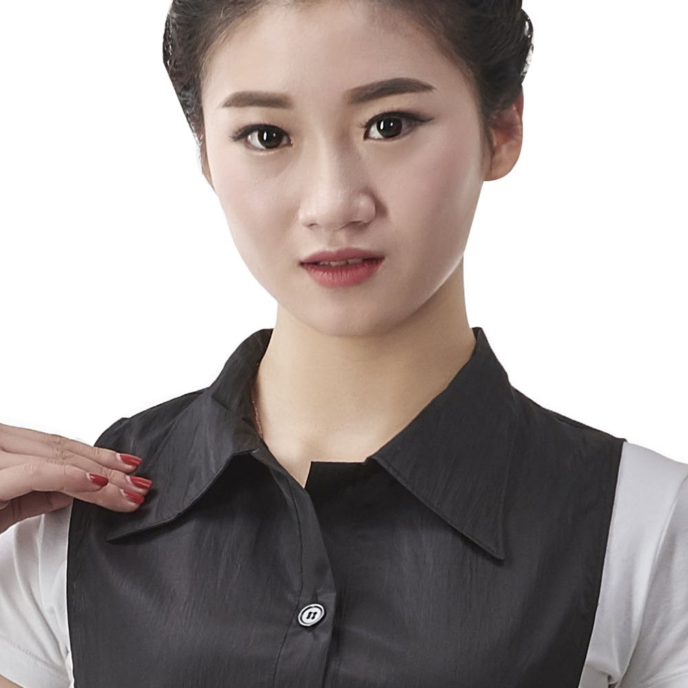 Salon Professional Barber Shop Collar Hair-cutting Apron, Colorfulife® Adult Hair Cutting Coloring Styling Aprons with Pocket Hairdresser Stylist Adjustable Working Clothes Boutique Hair Clothing Hairdressing Wrap T015 (Black) by Colorfulife (Image #2)