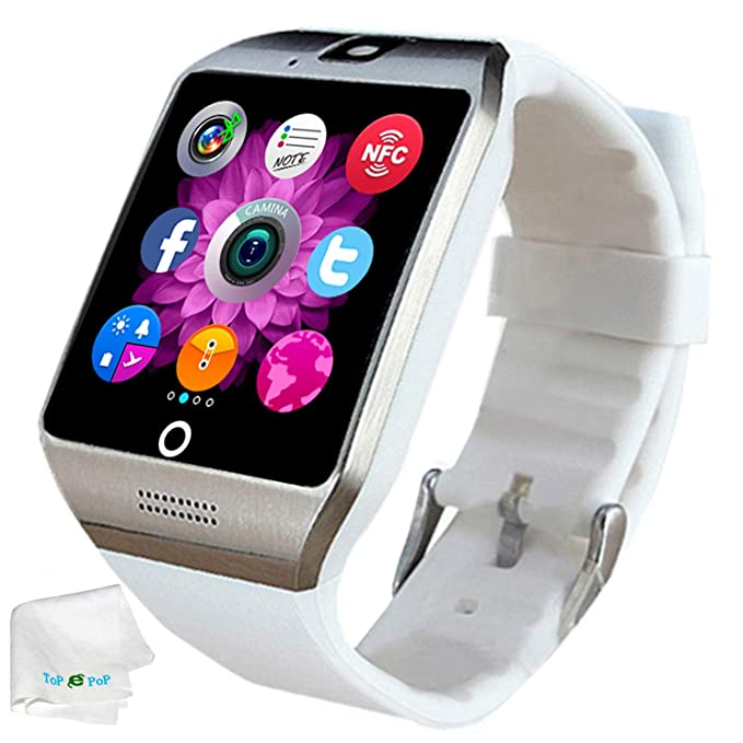 Bluetooth Smart Watch SIM Card Slot Camera Smartwatch Sports Fitness Tracker Wristwatch Compatible with Women Men