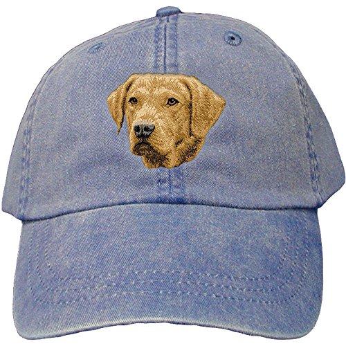 Cherrybrook Dog Breed Embroidered Adams Cotton Twill Caps - Royal Blue - Chesapeake Bay Retriever - Embroidered Chesapeake Bay Retriever