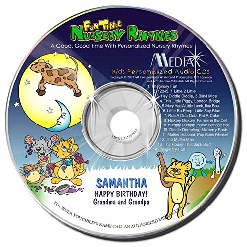 Gombita Enterprises Children's Personalized MEDIAK Music CD & MP3 - Fun Time Nursery Rhymes -