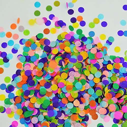 Confetti Circles 1/2 Inch Small 10 Different Colors 3400 Circles