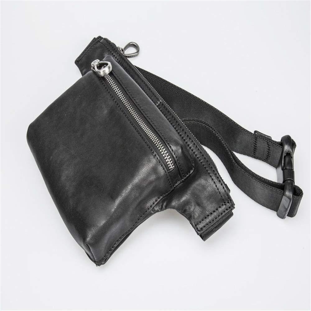 Unisex Hiking Waist Packs Belt Holster Bag Leather Waist Pack Crossbody Bag for Men Boy Fanny Pack for Walking Running