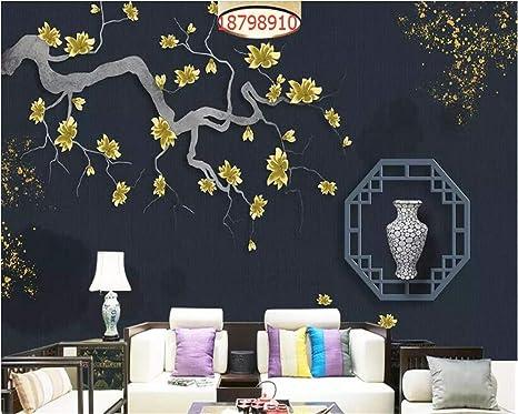 MuralXW HD Pintado a Mano Nuevo Arte Chino Pantalla 3D Flor ...