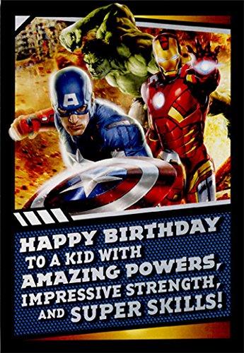 Amazon Avengers Amazing Powers Juvenile Marvel Birthday Card