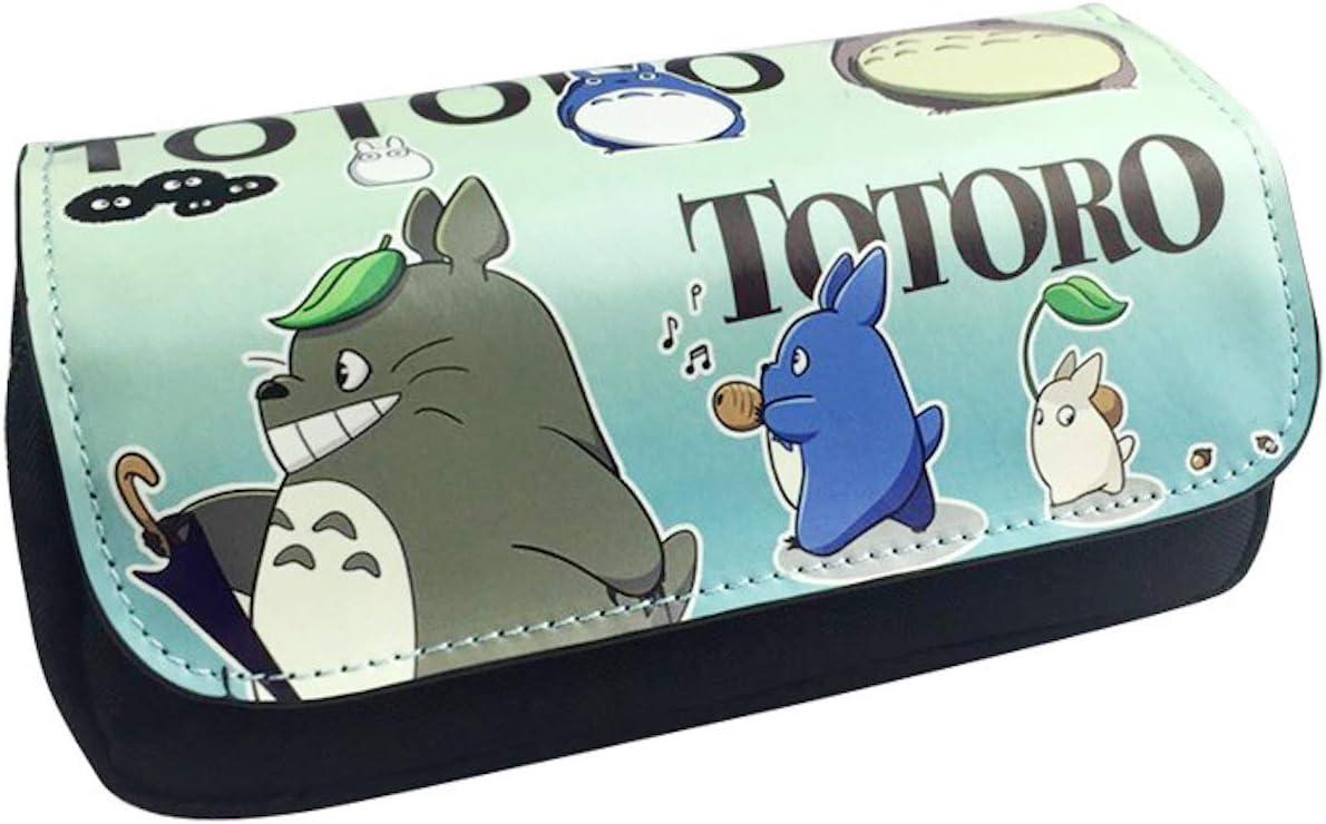 Hayao Miyazaki Totoro neceseres bolsa de lápices Chinchilla multifunción lápiz Casos dibujo animado: Amazon.es: Oficina y papelería