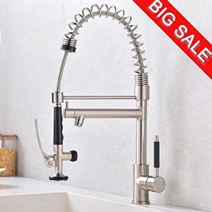 VCCUCINE Commercial High Arch 2 Spouts Pull Out Sprayer ...
