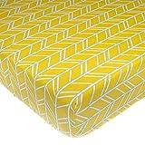 ice cream crib sheet - Glenna Jean Happy Camper Fitted Sheet, Yellow Print