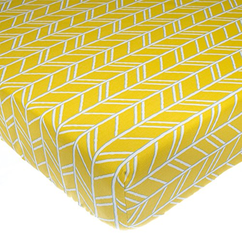 Glenna Jean Happy Camper Fitted Sheet, Yellow Print from Glenna Jean