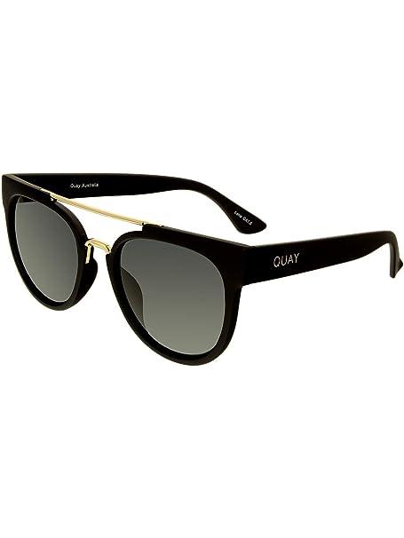 6a848a75f78f9 Quay Women s Odin QU-000068-BLK SMK Black Oval Sunglasses  Quay  Amazon.ca   Clothing   Accessories